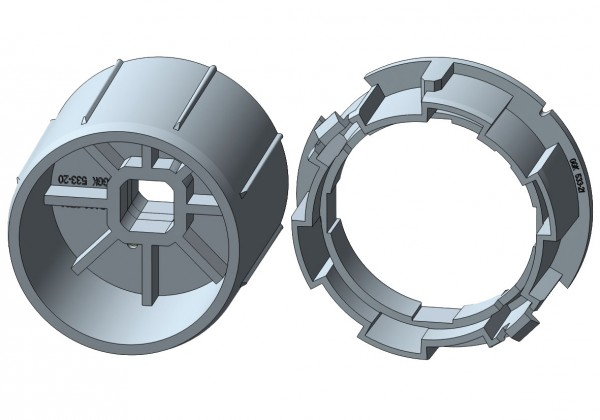 Rundwelle für elektronische Rohrmotore