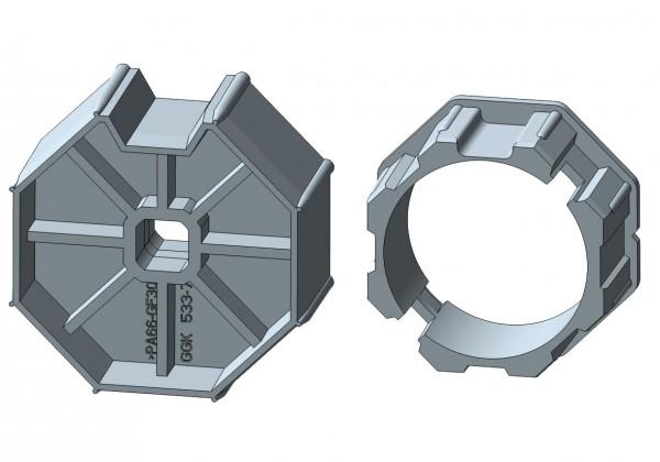 Achtkantstahlwelle für elektronische Rohrmotore