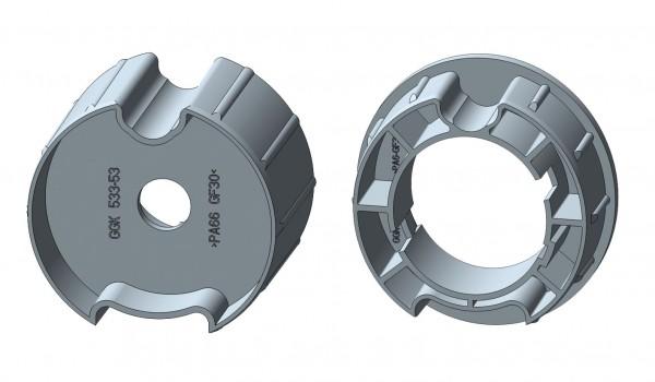 Nutrohr mit Flach-/Rund-/MHZ-Nut für Intelligente Rohrmotore