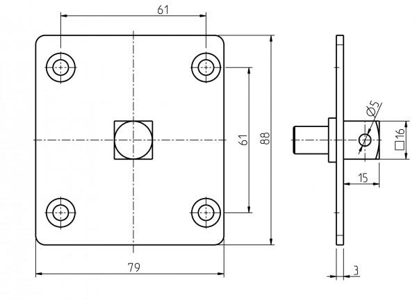 Adapter für Handkurbel 93401601