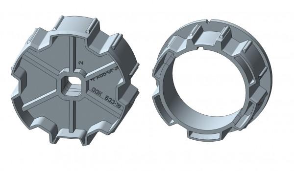 Eckermann Profilwelle für elektronische Rohrmotore